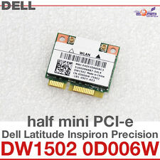 Wi-Fi WLAN WIRELESS CARD scheda di rete DELL MINI PCI-E DW1502 0D006W ATHEROS