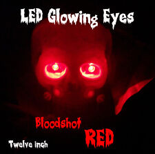 LED GLOWING EYES HALLOWEEN RED 5MM 9 VOLT WIDE ANGLE 9V 12""