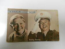 MICKEY ROONEY Actor THEN & NOW Vintage Exhibition ARCADE Card
