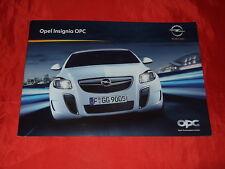 OPEL Insignia OPC Limousine + Sports Tourer Prospekt von 2009