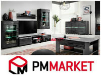 Living Room High Gloss Furniture Set Display Wall Unit Modern TV Unit Cabinet