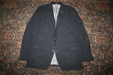 Banana Republic Tailored Fit Blue Italian Cotton Safari Jacket Sport Coat 46 L