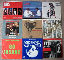 Lot Of 99 - Rock, Pop & R&B 45'S + Picture Sleeves - Cleaned And Tested