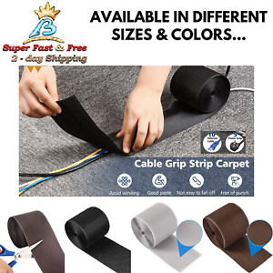 Over The Floor Carpet Cable Concealer Grip Strip For Cord Wire Cover Protector