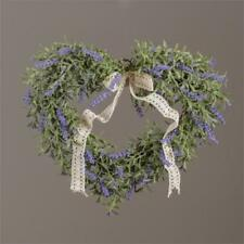New French Country Chic Lavender Heart Wreath Wall Decor