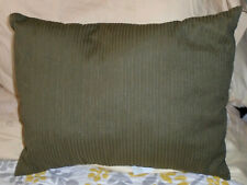 """NWT CALVIN KLEIN DECORATIVE BED PILLOW 15""""x20"""" EMBR STRANDS-THYME OLIVE GREEN"""