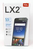 "TCL LX2 5.5"" Smartphone Unlocked for All GSM Carriers 13MP 16GB 4G LTE Black New"