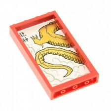 1x Lego Fenêtre Rouge 1x4x6 Dragon 2507 4550015 4639782 60596 57895pb009