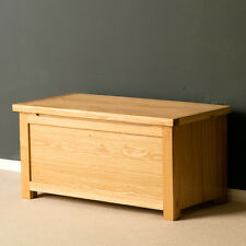 London Oak Blanket Box / Light Oak Blanket Box / Solid Wood Trunk / Brand New