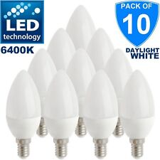 10x 5w = 30w E14 LED Small Screw Candle Light Bulbs Cool White 865 Lamps 6400K