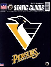 """PITTSBURGH PENGUINS Logo STATIC CLING Window NHL Decal 6"""" Show Your Team Support"""