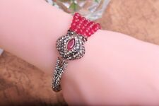 Turkish beaded Cuff and Chain Bracelet