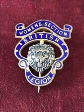 Women's Section British Legion Enamel Vintage Pin Brooch B'ham Medal Co.