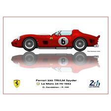Print on paper Ferrari 330 TRI/LM Spyder #6 Gendebien / Hill Winners 24h LM 1962