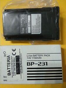 ICOM BP-231 Batteria per Radiotrasmittente Nuove