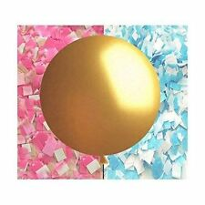 "Gender Reveal Balloon in Gold - Giant 36"" balloon with confetti"
