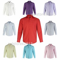 Shirt Plain Formal Party Wedding Long Sleeve Boys Kids New  Age 1 - 15 Years