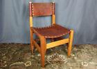 Saddle leather side chair, Biermann Werner for Arte Sano, Bogota, Columbia