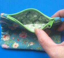 Vintage Floral Design Coin/Card Purse - Girls /Kids Purse / Fully Lined - NEW