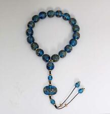 Old Chinese Coloured Glaze Bracelet 19 Beads