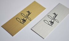PETER BROCK  Signature Plaque 120 x 40mm GOLD