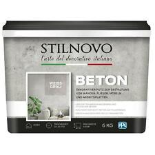 STILNOVO Beton, mineralischer Echtbeton, Betonobtik Betonlook, weissgrau, 6 kg