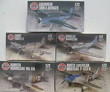 5x AIRFIX Flugzeug Modellbausätze - 1:72 - Model Kit - Sammlung Konvolut (11)