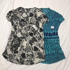 Daisy Fuentes Women's Printed Drawstring V Neck Sleeveless Knit Top Blouse NWT