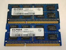 ELPIDA EBJ21UE8BDS0-DJ-F 2Rx8 Memory PC3-10600S 2GB 1333Mhz 204 Pin - Lot of 2