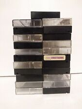 Lot 23 Empty Mix Hard Plastic Cassette Tape Cases Used black clear vintage