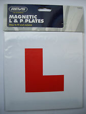 "MAGNETIC LEARNER CAR ""L"" & ""P"" PLATES, 2 Sets, Car Accessories 18cms x 18cms NEW"