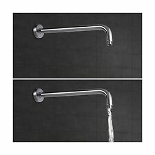 "Extra Long 16 Inch Replacement Rain Shower Arm with Flange for 10"" 12"" Rain S..."