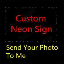 Custom NEON LIGHT SIGN Glass Tube Display BEER BAR CLUB Decor Lamp Signs 1""