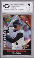 Miguel Cabrera, 2001 Multi-Ad, Midwest League, Pre-ROOKIE!!!, Beckett 9