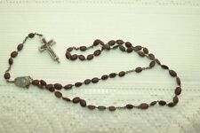 JEWELLERY - COLLECTABLE ANTIQUE ROSARY BEADS,CATACOMB & LOURDES DETAIL 947