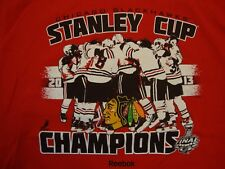NHL Chicago Blackhawks Hockey Stanley Cup Champions Sports T Shirt Size L