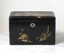 Antique JAPAN three-partite decorated lacquer box