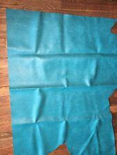 Vtg 1960's Turquoise Naugahyde Upholstery Fabric 4 Nauga Monster, Mini Bike Et
