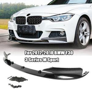 Car Front Bumper Spoiler Lip For 2012-2018 BMW F30 3 Series M Sport Carbon Fiber