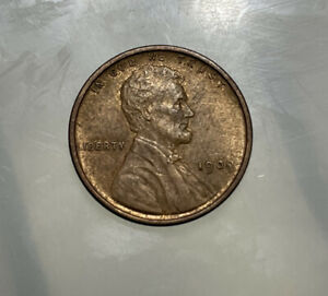 1909 VDB Lincoln Wheat Cent Penny 1c BU+ Uncirculated Detail Toned #9