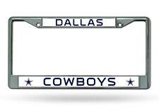 NFL NIB Chrome License Plate Frame Dallas Cowboys Thin Raised Letters