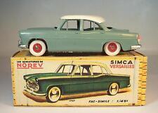Norev 1/43 Plastik/Blech Simca Versailles graugrün mit weißem Dach in Box #5746