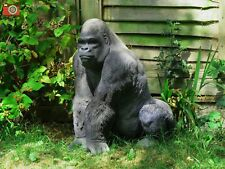 More details for large silverback gorilla, stunning life like home & garden ornament. vivid arts