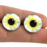 Pale Yellow Glass Eyes Taxidermy Doll Craft Eyeballs