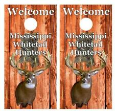 Welcome Miss Whitetail Deer Hunters Cornhole Board Decal Wrap Free Squeegee