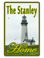 PERSONALIZED SIGN YOUR NAME DURABLE ALUMINUM NO RUST FULL COLOR LIGHTHOUSE #019