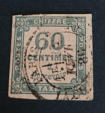 France Taxe N° 9 60 C Bleu Obli TB Cote 150€
