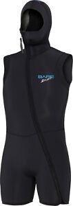 Bare Sport S-Flex Step-in Hooded Vest Men's 7mm Scuba Diving Wetsuit (All sizes)