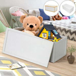 Wooden Toy Box Storage Unit Childrens Kids Chest Toyboxes Strong Toybox