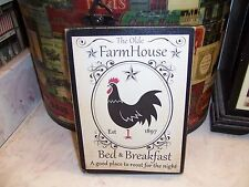 Farmhouse Bed & Breakfast sign Kitchen wall decor Country Vintage Rustic